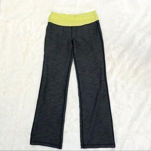 Lululemon size 8 spacedye yoga pants citron band